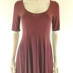 Silence + Noise Beverly Swing Cupro T Shirt Dress
